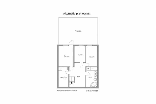 Alternativ planlösning sutterängplan