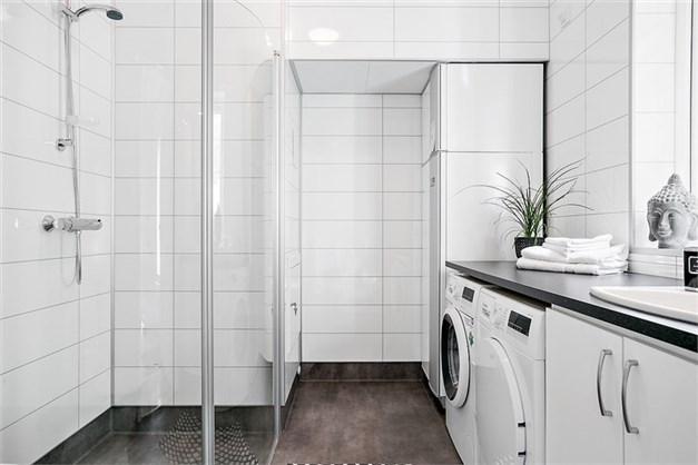 Toalett/dusch/tvätt i entréplan