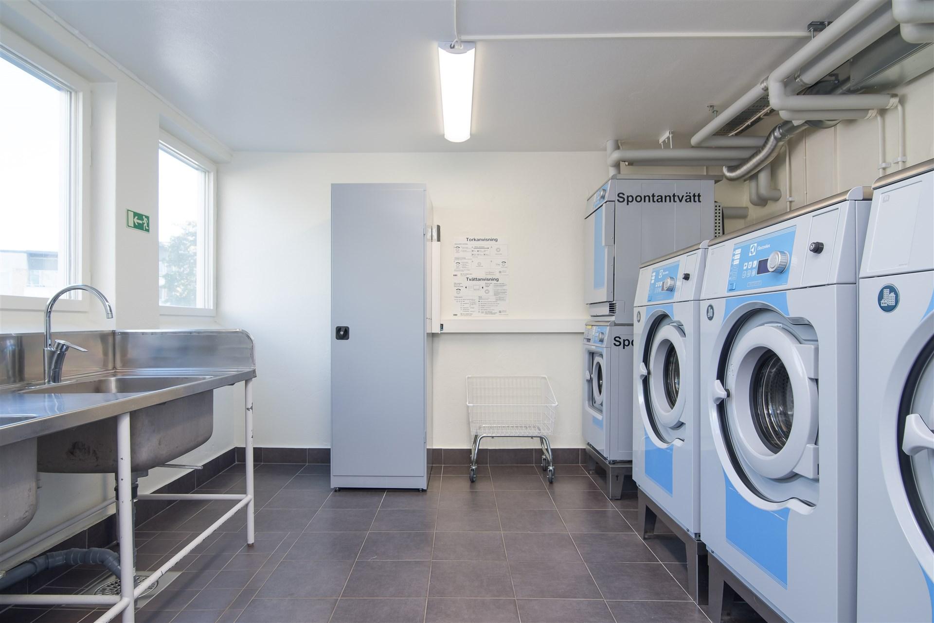Föreningens gemensamma tvättstuga.