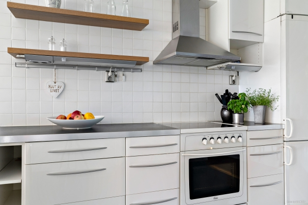 Ljust och trivsamt kök