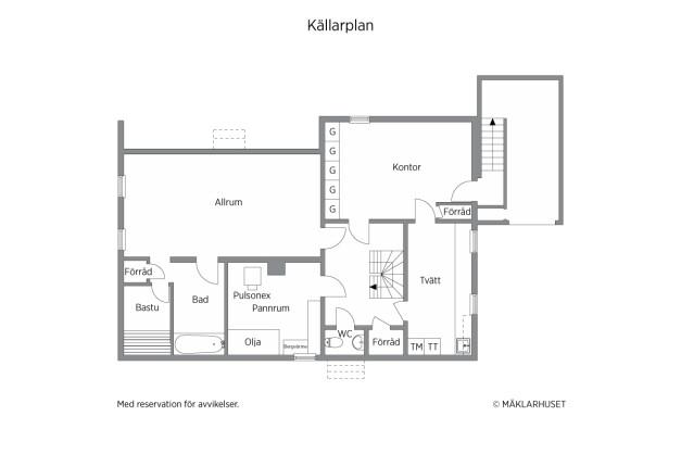 Planritning källarplan