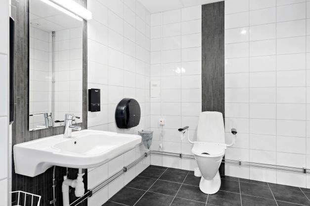 Toalett på entréplan..