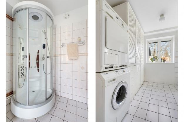 Tvätt/dusch/panna entréplan