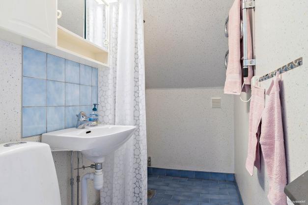Duschrum på ovanvåning