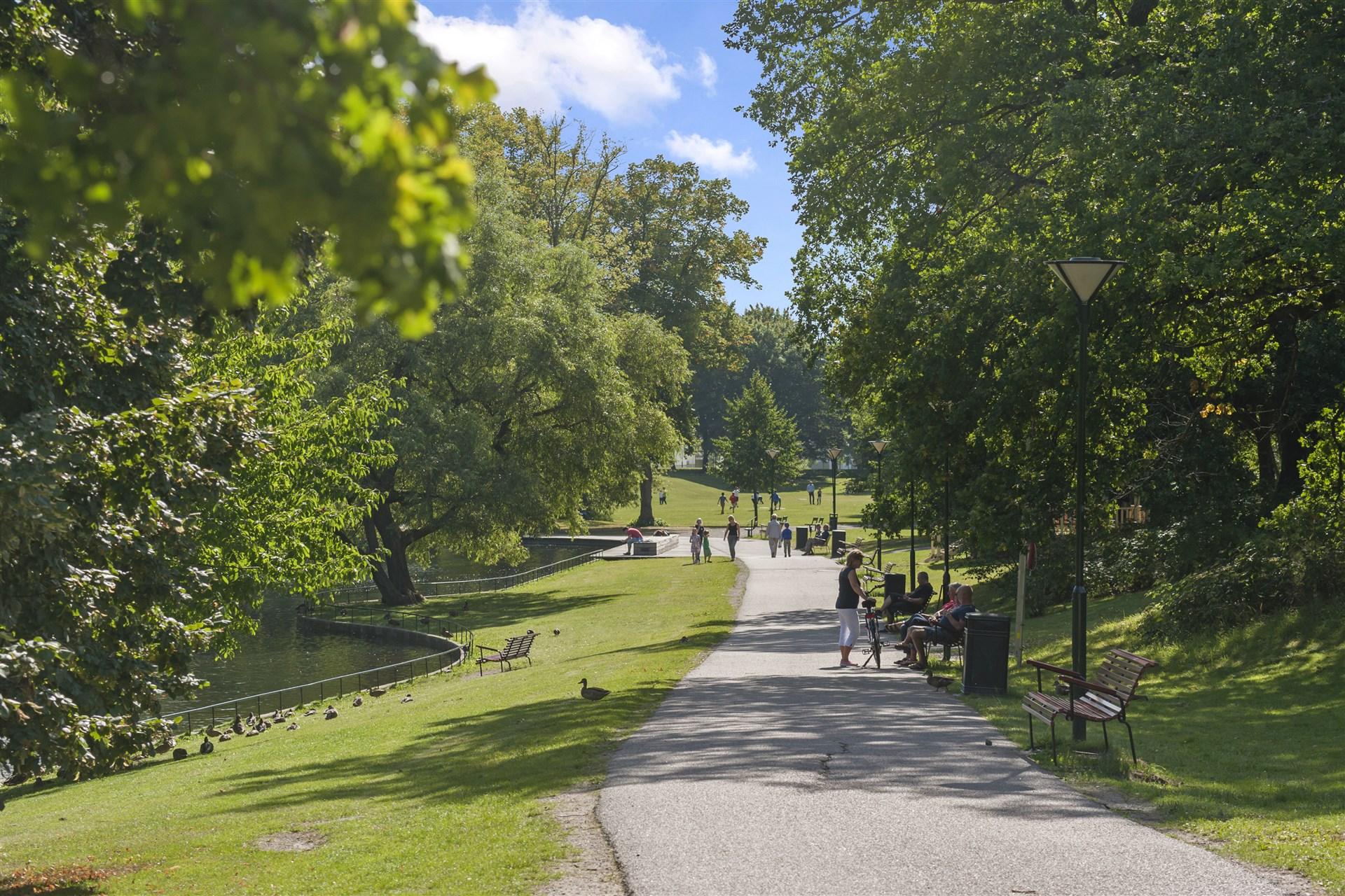 Sommarliv och härliga promenadvägar