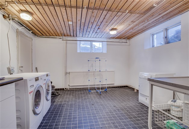 Tvättstuga i källarvåning