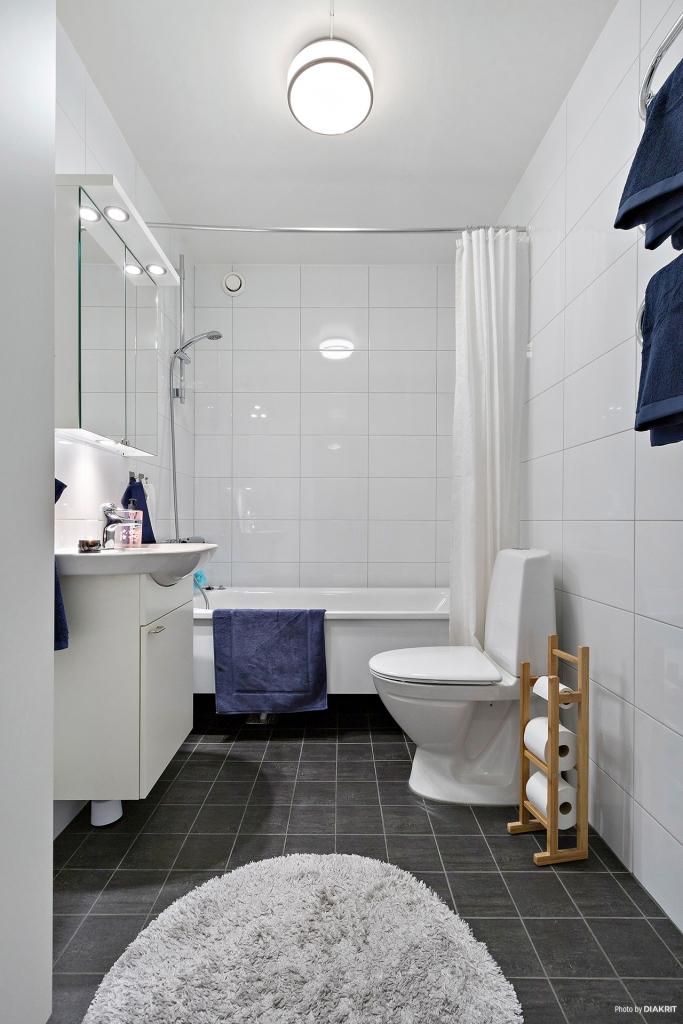 Smakfullt nyrenoverat badrum