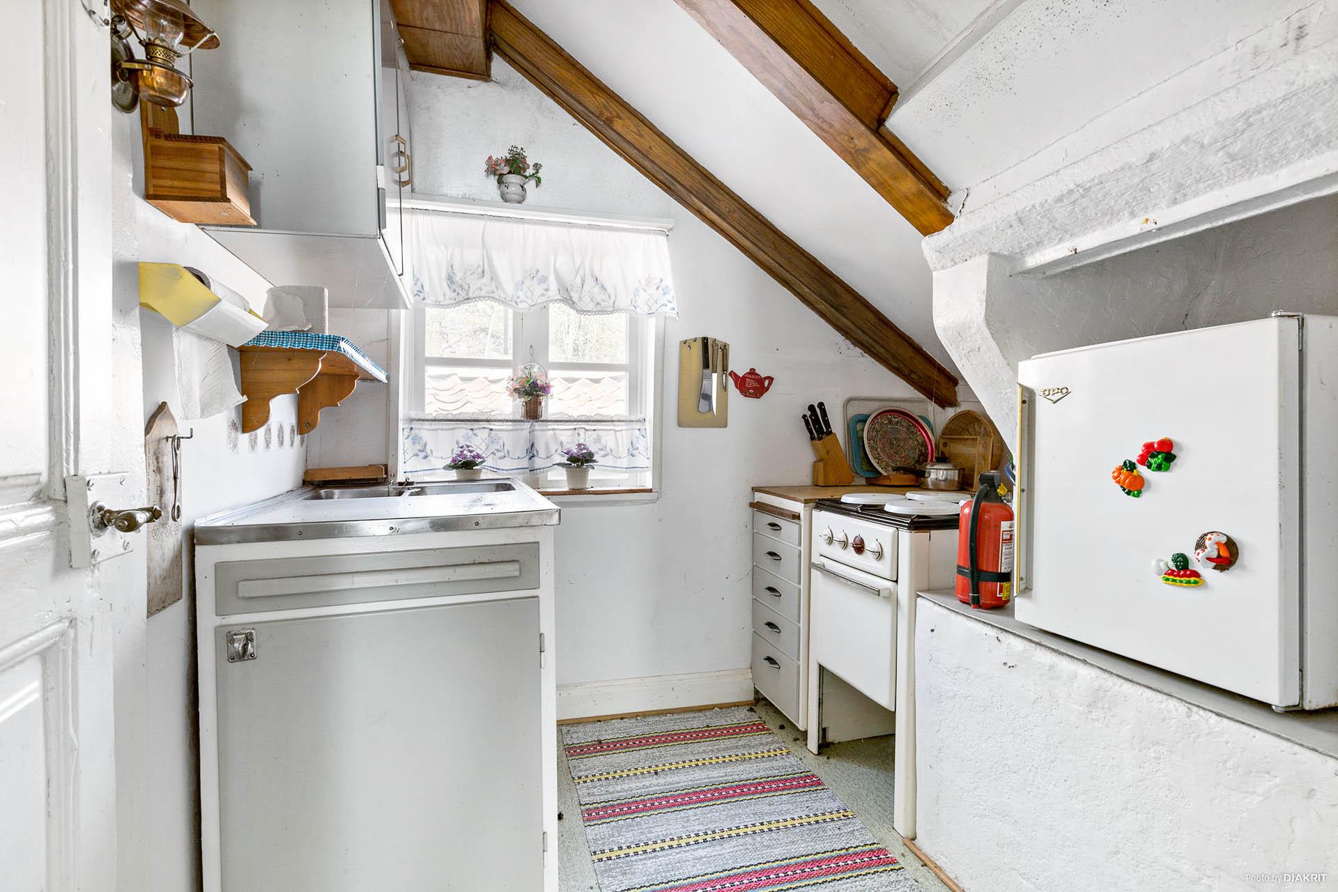 Kök med gasolspis och gasol kylskåp. (Fungerar sannolikt inte)