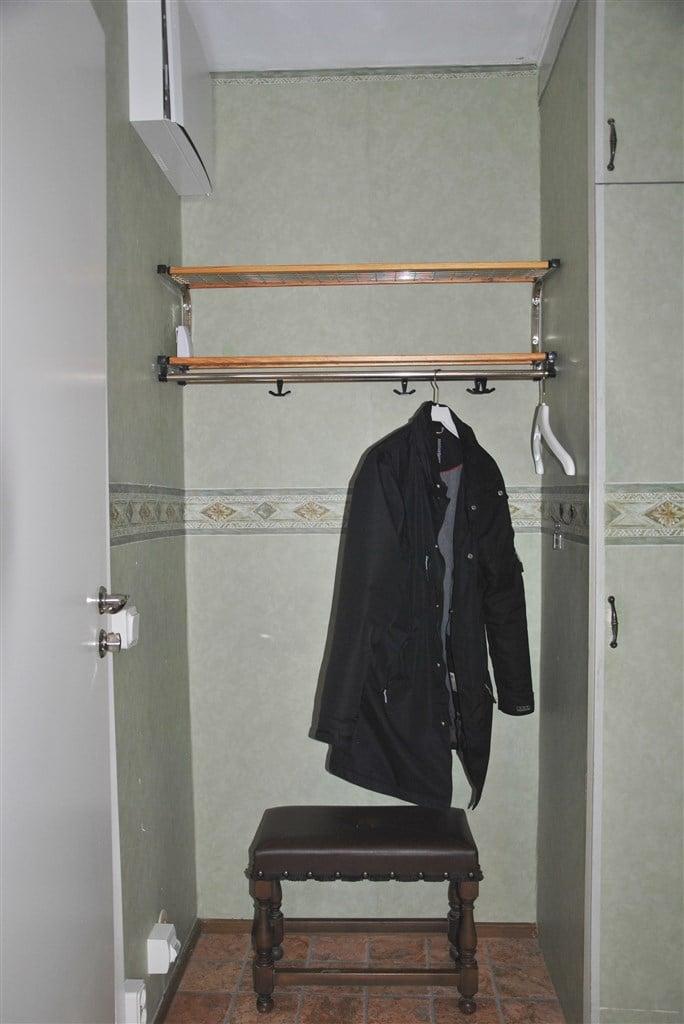 ...och plats för avhängning kläder