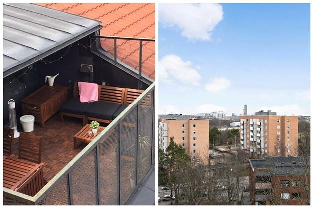 Takterrass på 9 tr, i samma hus som lägenheten!