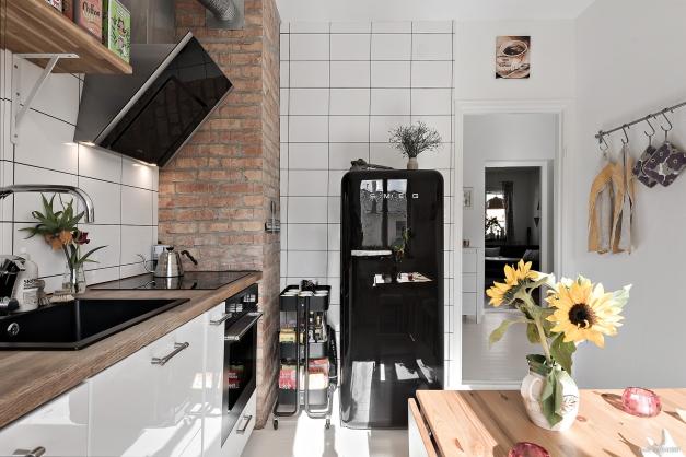 Lägenhetens pärla - det smakfulla köket