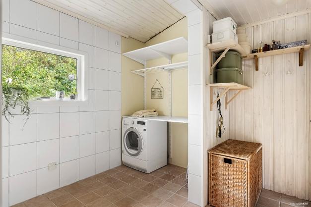Här finns även tvättavdelningen.