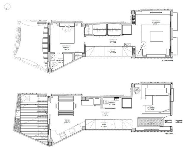 Bottenvåning och våning 1