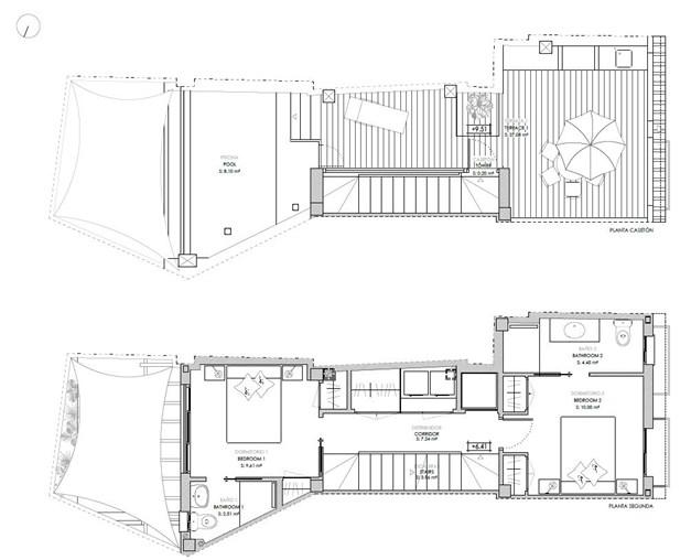 Våning 2 och takterrassen