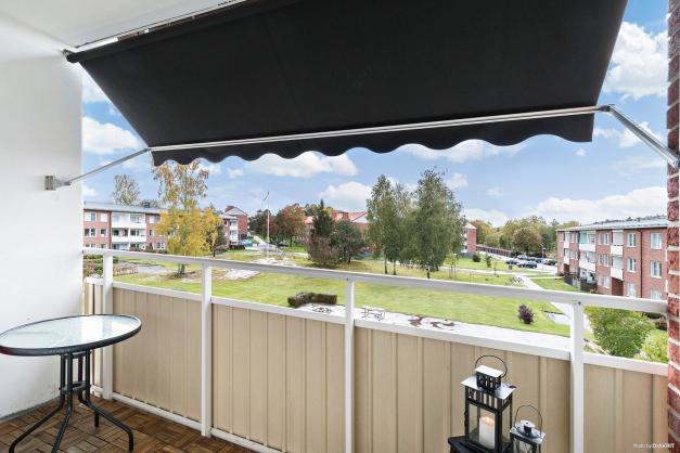 Mysig balkong i söderläge
