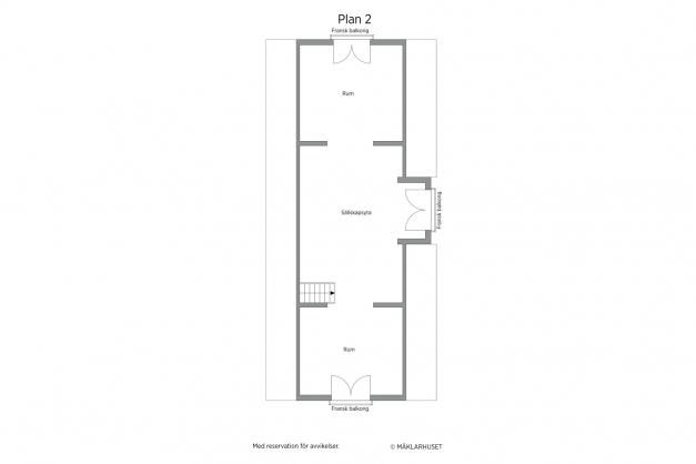 Planritning ovanvåningen