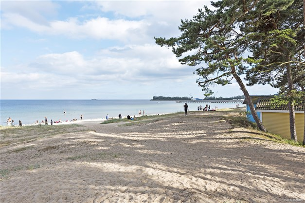 Den härliga stranden på Östra Sand!