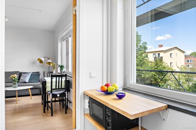 Köksfönster mot innergården