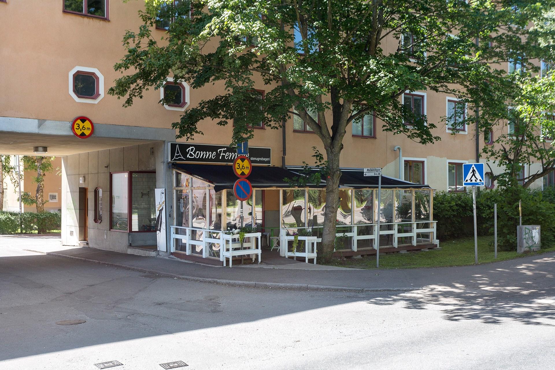 Uppskattat Café i området.