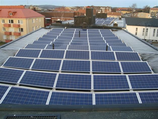 Föreningen har investerat i solceller
