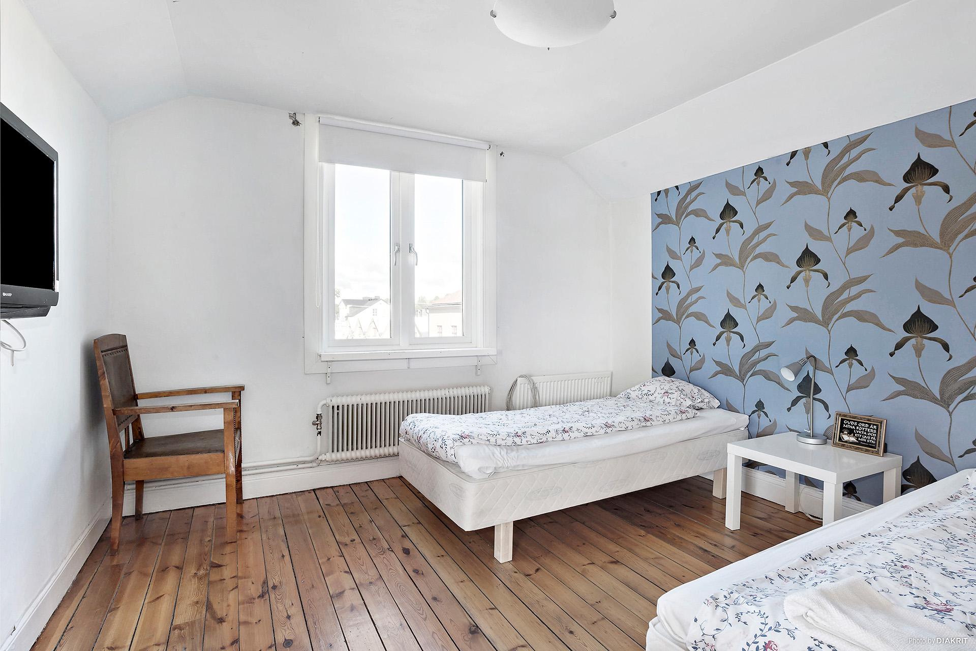 Ett av sovrummen på plan 2