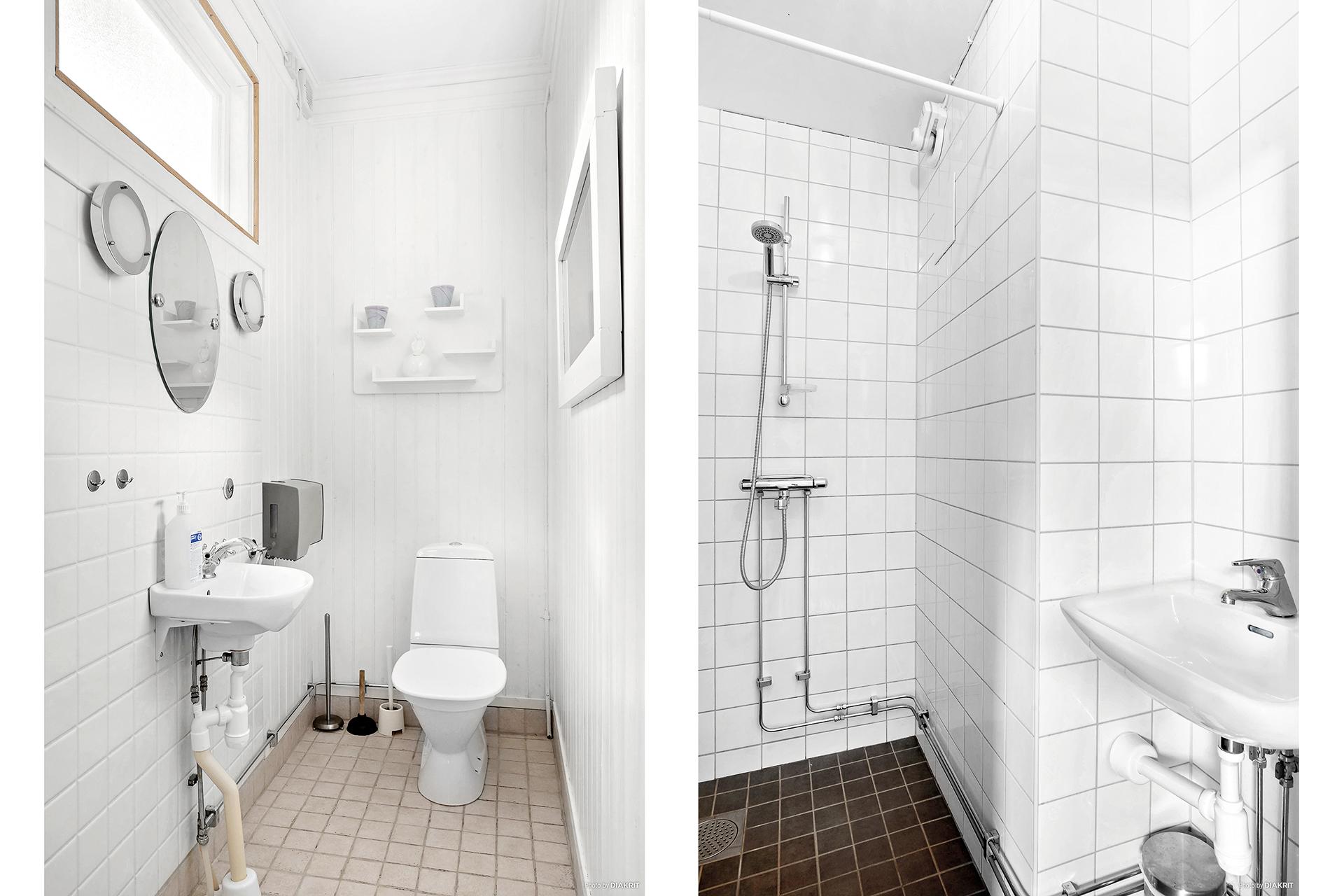 Toalett och duschrum