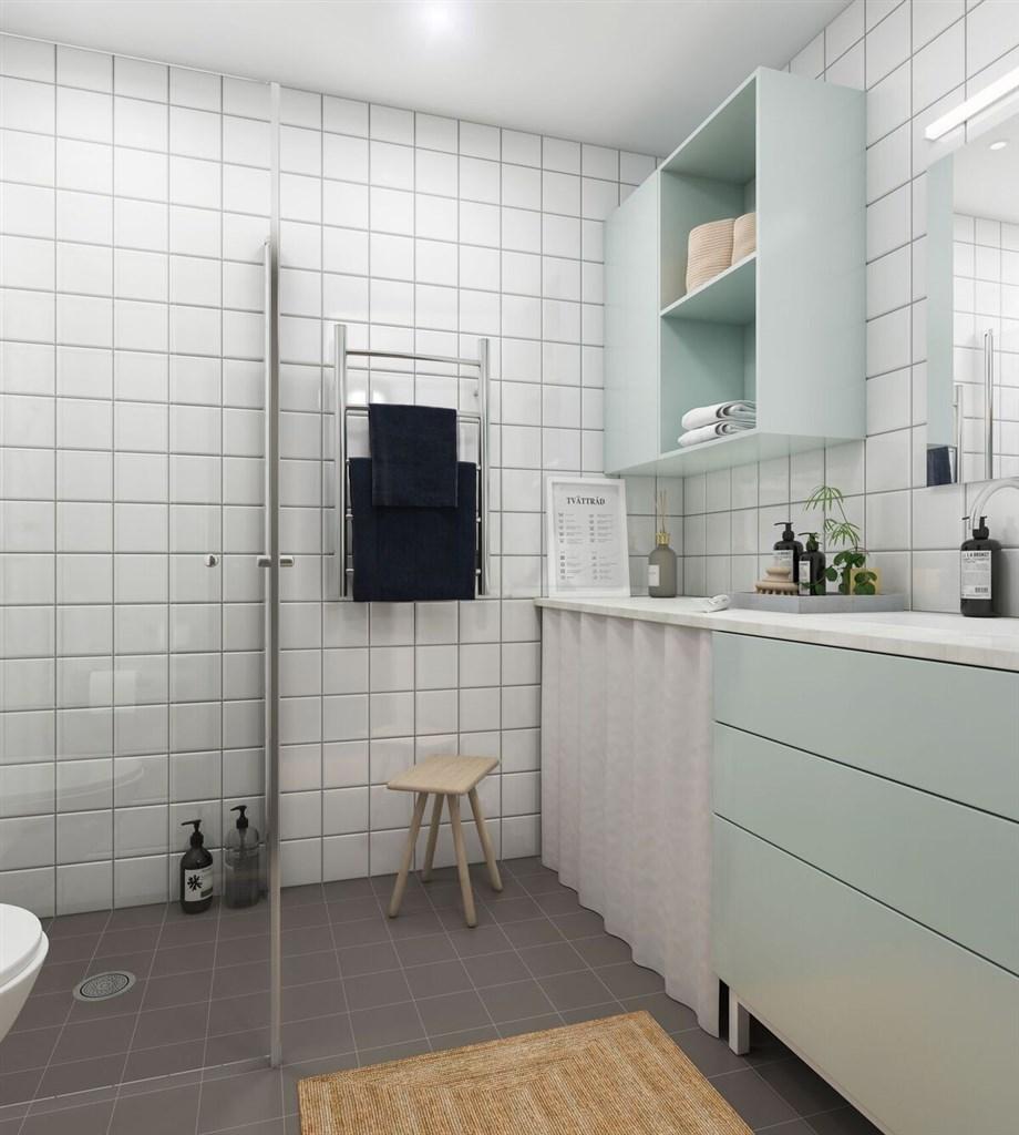 Illustrationsbild från ett badrum
