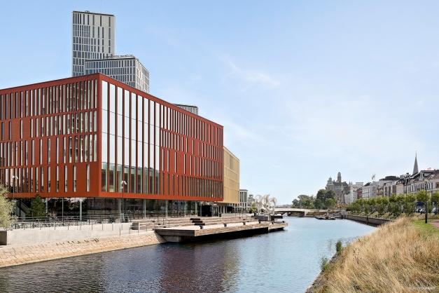 Vy mot Malmö Live och city