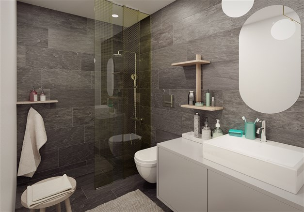 Visualisering av badrum