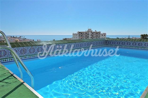 Swimmingpool på gemensam takterrass