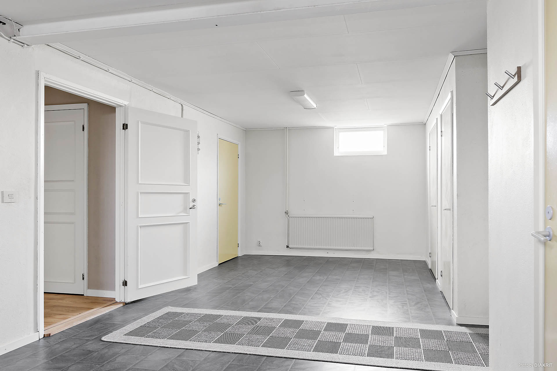 Källarrum med plats för tork.