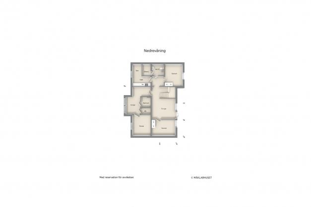 Souterrängvåningens planritning
