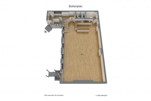Planritning 3 D plan 2 bostadsdelen