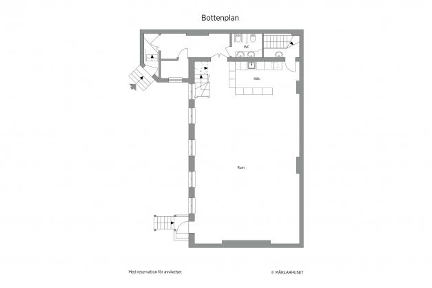 Planritning plan 2 bostadsdelen