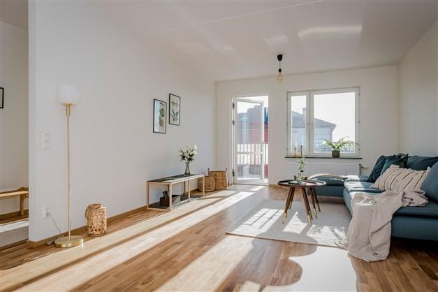 Vardagsrum med möblering