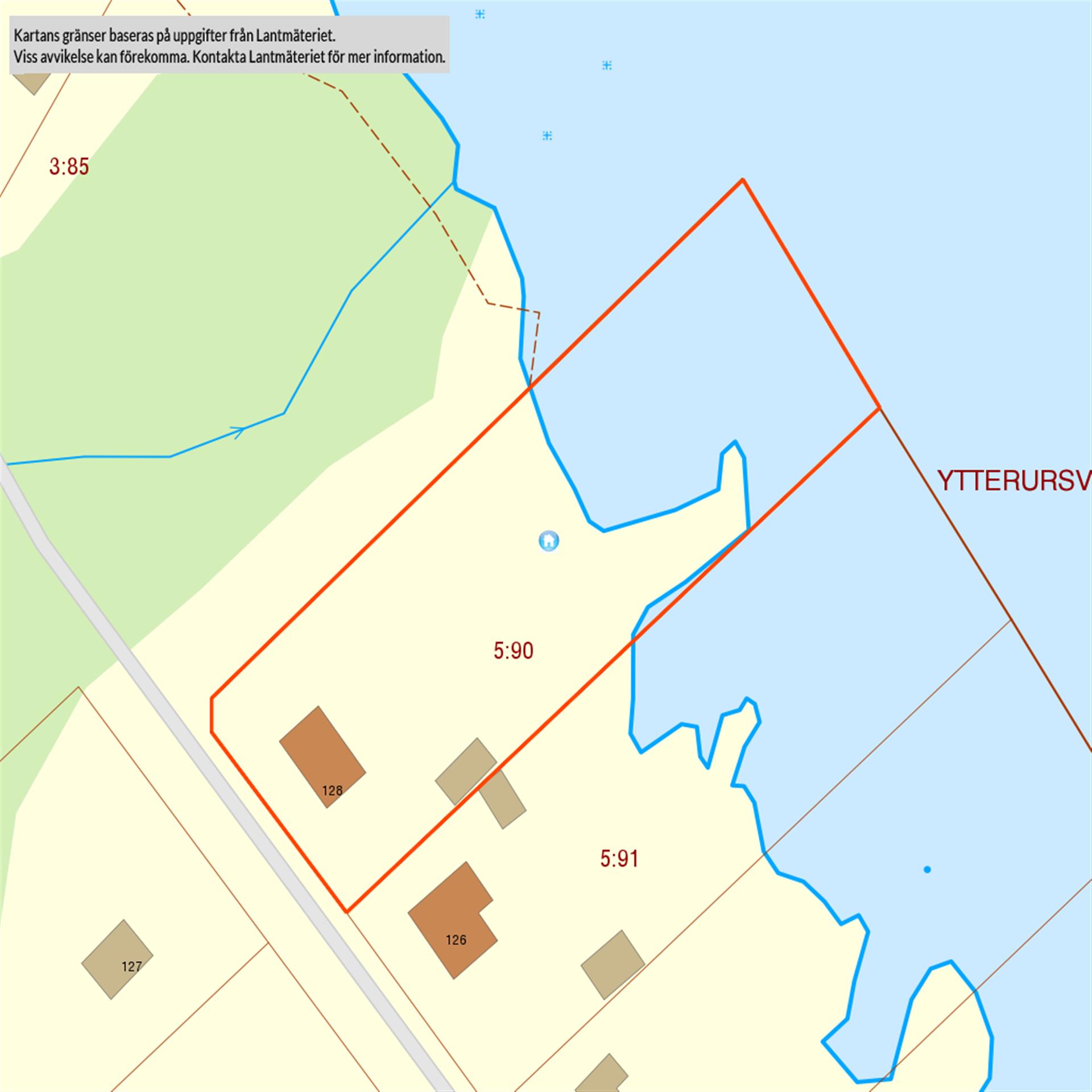 Tomtkarta Harrbäckssand 128