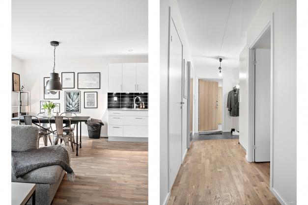 Ljust och stilrent med vackert golv