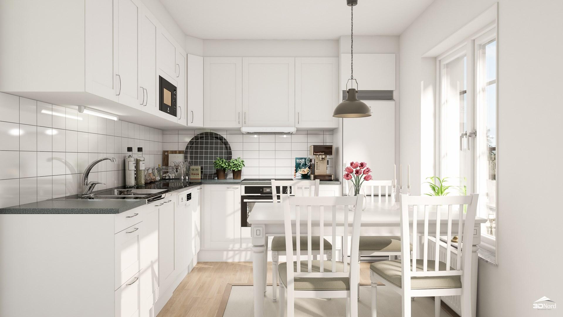 Kök i en 2:a  Bilderna är illustrationer och avvikelser kan förekomma.