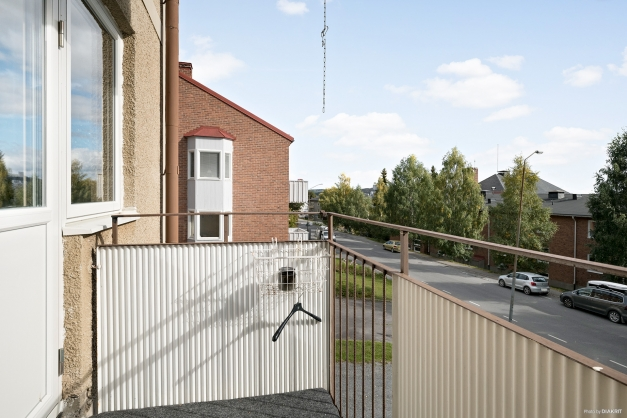 3,5 ROK Utsikt från balkong lgh 1101