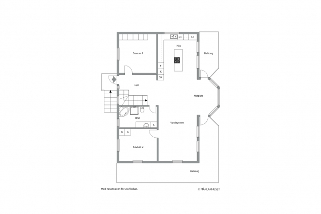 Planritning 2 D, våningsplanet