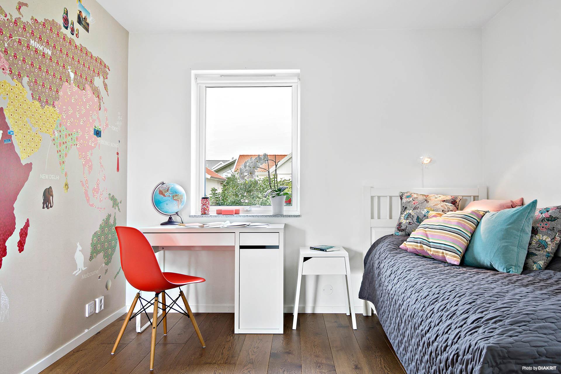 Det andra sovrummet på entréplan