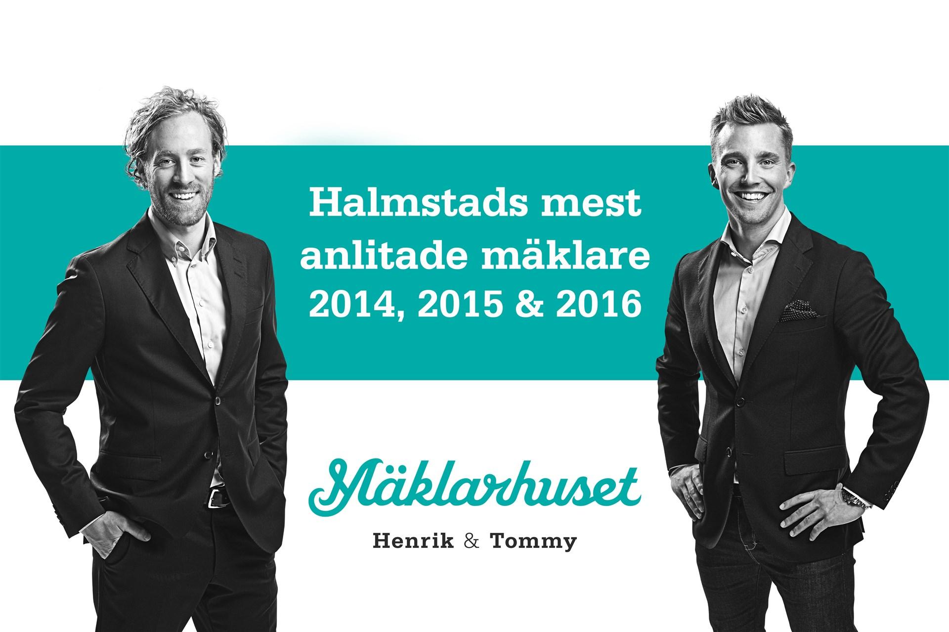 Halmstads mest anlitade mäklare 2014, 2015 och 2016!