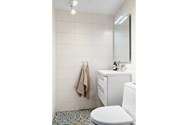 Snyggt wc-rum på entréplan