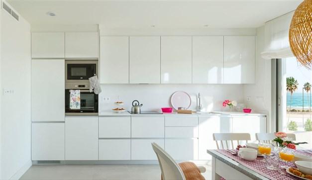 Kök - byggföretagets bild från visningslägenhet