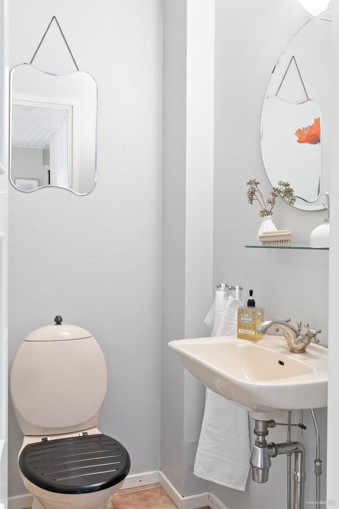 Gäst wc i entréplanet.