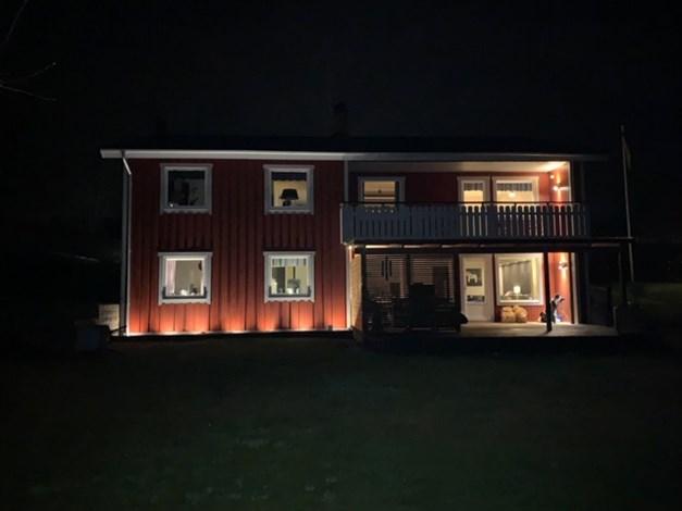Fin belysning på kvällen (säljarens bild)