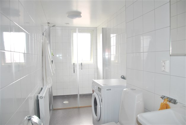 Fräscht badrum som totalrenoverades 2016/-17