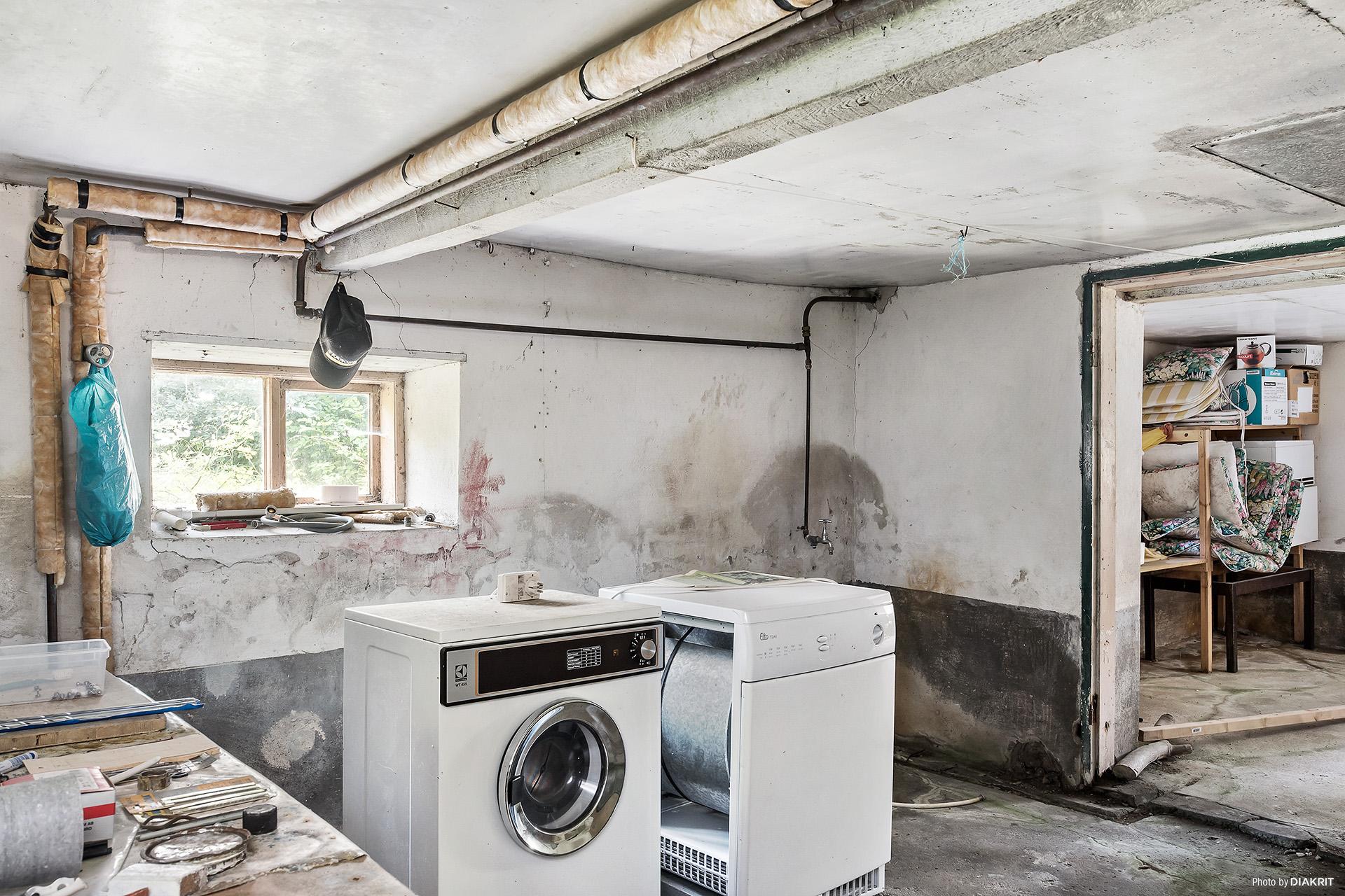 Tvättstuga i källare