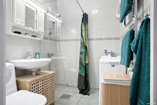 Badrum med tvättmaskin från 2019