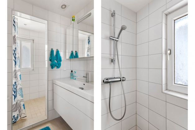 Badrum med dusch på övre plan